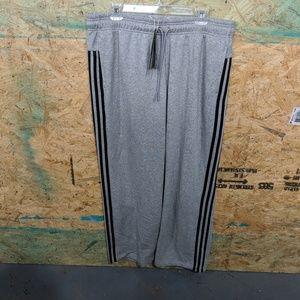 Adidas Athletic 3-Stripe Cotton Open Hem Pants XL